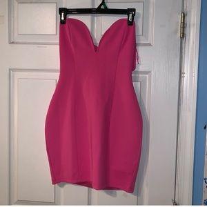 Pink Tobi strapless mini dress
